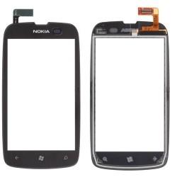 Nokia Lumia 610 Vitre tactile assemblée sur châssis