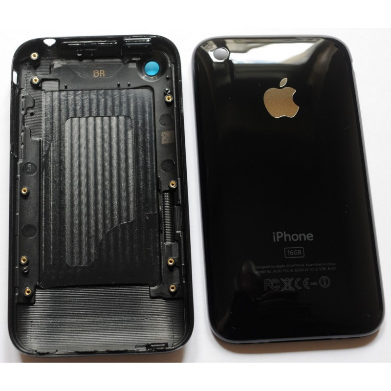 coque arri re de remplacement iphone 3gs noir i sav quik informatique. Black Bedroom Furniture Sets. Home Design Ideas